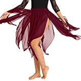 621e5486d391 YiZYiF Ragazza Gonnellino da Danza Classica Tulle Irregolare Vestito da  Danza del Ventre in Chiffon Gonna