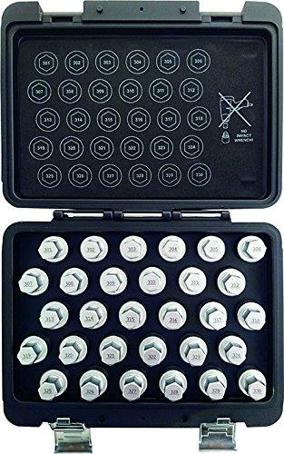 Preisvergleich Produktbild Kunzer 7FSM30 Felgenschloss-Schlüssel-Satz Mercedes,  30-teilig