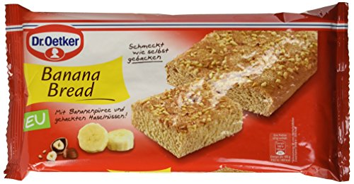 Dr. Oetker Fertiges Banana Bread, 6er Pack (6 x 250 g)