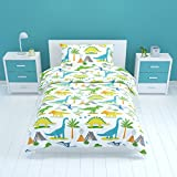 Bloomsbury Mill - Dinosaur World - Kids Bedding Set - Single Duvet Cover & Pillowcase