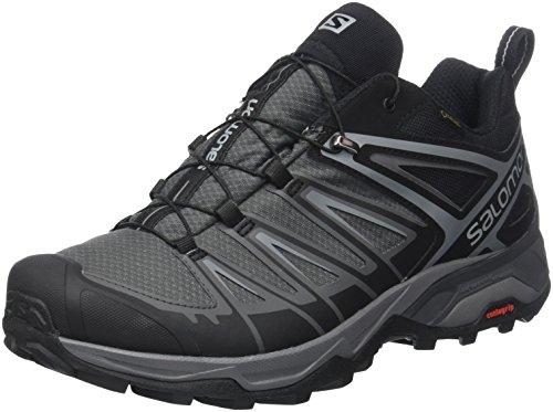 Salomon X Ultra 3 GTX, Zapatillas de Senderismo para Hombre, Negro (Black/Magnet/Quiet Shade), 42 EU