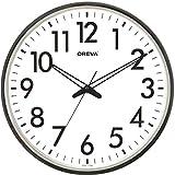 Oreva Silent Movement Round Plastic Wall Clock (32 x 32 cm, White) - AQ-1687