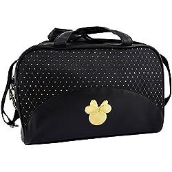 Disney Mickey & Minnie Bolsos de Maquillaje Negro y Dorado - 1 Unidad
