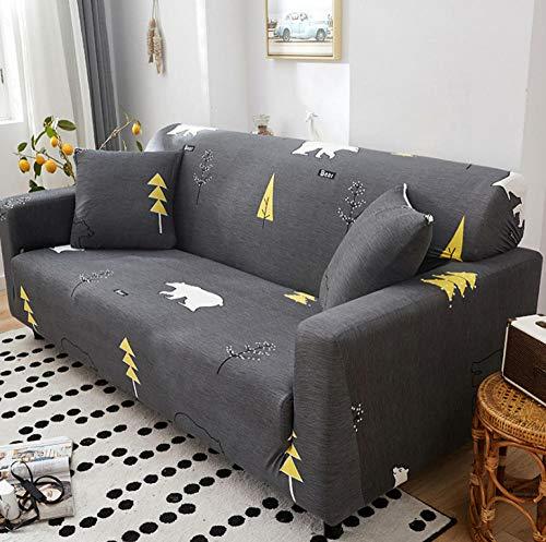 NHFGJ Funda para sofá elástica Antideslizante Impresión con Todo Incluido 1/2/3/4 plazas...