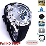 Spy Camera Watch Hidden Camera 1080P Full HD Life Waterproof Spy Watch Camera