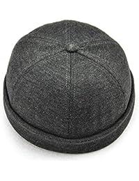 CDXDSV Cappello solido senza bretelle francese da uomo flangiato Cappellino  da marinaio con cappuccio ricamato 5eb2d363e24d