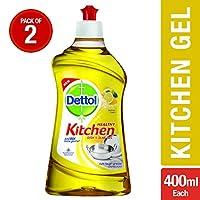Dettol Kitchen Gel - 400 ml (Lemon, Pack of 2)