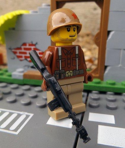 Modbrix 27894 -☭ Custom Minifigur Sowjetischer Soldat aus original Lego® Teilen & PPSH-41 MG ☭ thumbnail