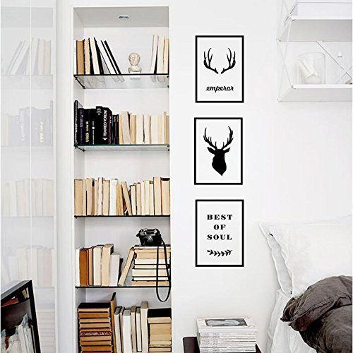 Elch wandaufkleber Nordic dekorative wandaufkleber wohnzimmer sofa zimmer dekorative aufkleber hintergrund wandmalerei selbstklebende paste ( Color : E , Size : XL )