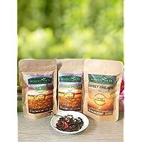 TÈ VERDE IN FOGLIA PROFUMATO E TISANA PER LA SERA (3 confezioni da 50 gr) - 2 Tè in Foglia buonissimi, un tè verde al melograno, un tè bianco e verde delicato e fruttato - 1 Infuso rilassante e digestivo