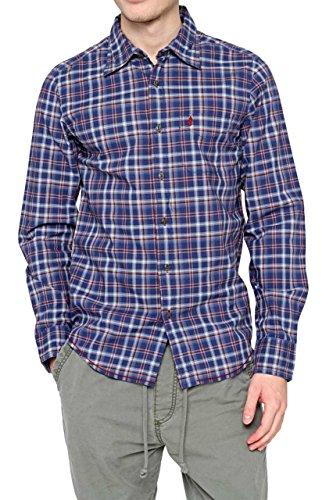 marlboro-classics-chemises-chemise-homme-couleur-bleu-fonce-taille-m