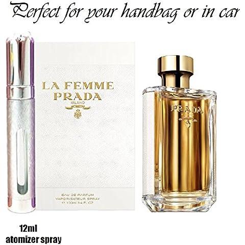 Prada la femme eau de parfum 6ml o 12ml con termostato viaje Spray atomizador