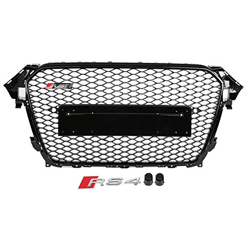 Keenso RS6 Style Grill Frontstoßstangengrill Hex Mesh Honeycomb Grill Fit für A6 / S6 C6 05-11