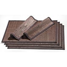 Ritzenhoff & Breker 357998 - Mantel individual de bambú (6 unidades), color marrón oscuro