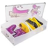 Tatkraft Thorvald 3er Set Schuhbox Schuhkasten für Stiefel Transparent Gerippte Starke Kunststoff