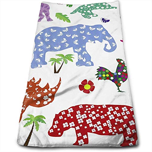 QuGujun Sports Towel Wildlife Animals Barbola Premium Soft Polyester Lightweight Hand Towel,Travel Towel,Bath Sheet, 30cm X 70cm- Multipurpose Towels for Bath, Hand, Face, Gym and Spa (Türkis Papier-handtuch-halter)