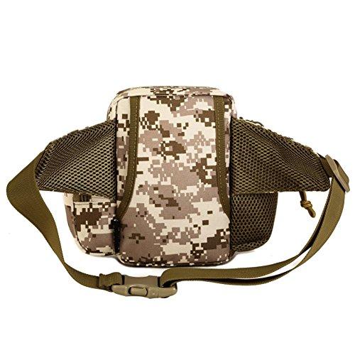 Reefa Multifunktions Messenger Bag Straßenunterpaket Taschen für Wasserflaschen Reiten Sport Outdoor Tourismus Bergsteigen Freizeit A-Tarnung