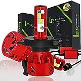 H4 9003 HB2 LED Abblendlicht Fernlicht Lampen Auto Scheinwerfer Birnen 60W 9600LM 6000k Weißes Licht 12v kfz glühlampe 3 Jahre Garantie (2 Stück)