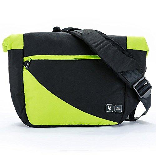 Preisvergleich Produktbild ABC Design Wickeltasche Courier inkl. Wickelunterlage, Utensilientasche & Schnullertasche / Lime / Große Babytasche zum Umhängen