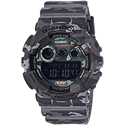 Casio Mens G SHOCK COMO GREY Digital Sport Quartz Watch (Asia Model) GD-120CM-8D