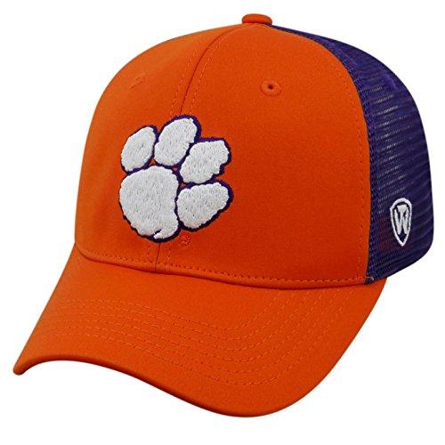 Tiger Mesh (Top of the World NCAA-Ranger Trucker mesh-Adjustable Snapback Hat Cap, Herren, Clemson Tigers)