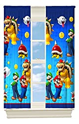 Nintendo s Super Mario Defiant Mario Room Darkening Window Panel, 42 by 63-Inch