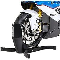 Motorrad Vorderrad Wippe Harley Davidson Dyna Fat Bob (FXDF) ConStands® Easy Plus schwarz matt