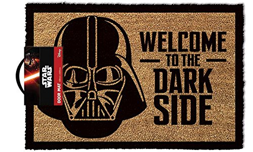 Felpudos Star Wars Welcome to the Darkside – Felpudo, tamaño: 60 x 40 cm, material fibra de coco