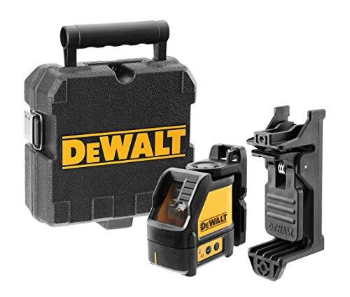 DeWalt Horizontal und vertikal selbstnivellierender Kreuzlinien-Laser, 2-Tasten-Bedienung, inkl. Wandhalterung und Koffer