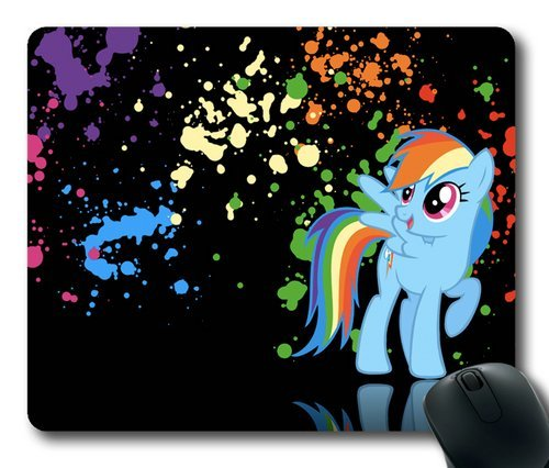 517A6ti23RL Cartoon Rainbow Dash My Little Pony Fridenship Is Magic 002 Rectangle Mouse Pad by eeMuse