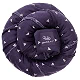 manduca Sling > Kollektion 2018 PurpleDarts < Elastisches Baby-Tragetuch GOTS Zertifikat 100% Baumwolle, 3 Bindeanleitungen (Bauchtrage Wickelkreuztrage Hüfttrage) Neugeborene & Babys bis 15kg, lila