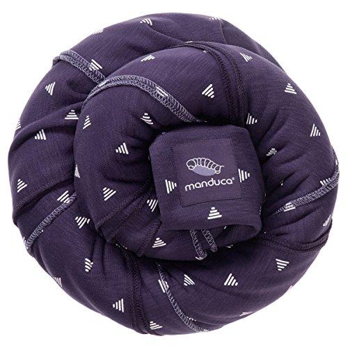 manduca SLING Mochila Bebe/Fular Portabebes Elastico con Certificado GOTS, Calidad Ecológica, Algodón Orgánico, Para Bebes Pequeños 3,5-15kg (PurpleDarts/púrpura, 5,10m x 0,60m)