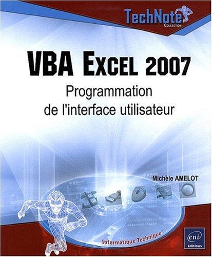 VBA Excel 2007 - Programmation de l'interface utilisateur