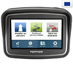 """TOMTOM Rider Europe 45 Premium Pack (1GD0.002.01) - Carte à vie - GPS + Housse gris métal pour GPS avec écran 4,3"""""""