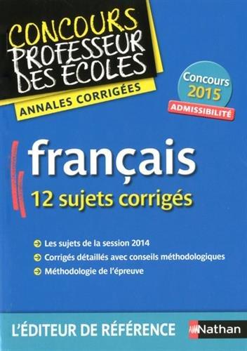 Annales CRPE 2015 : Admissibilité Français