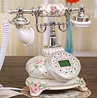 Retro corded phone Antique telephone Vintage landline Fashion creative retro home phone Home decoration-silvery