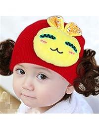 Casquette enfant Casquette en tricot Chapeau Bandeau Headwear Perruque Chapeau Princesse Fille d'un style