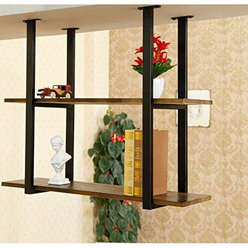 JHXGDJ Eisen Deckenregal Deckenregal LOFT Retro-Massivholz Schmiedeeisen Restaurant Front Regal Rack Regal Ra (größe : 120cm)