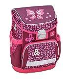 Ergonomischer Schulranzen mit Brustgurt für die Grundschule 1-2 Klasse - Superlight/Mädchen / Schmetterling-Motiv Pink von Belmil (Butterfly)