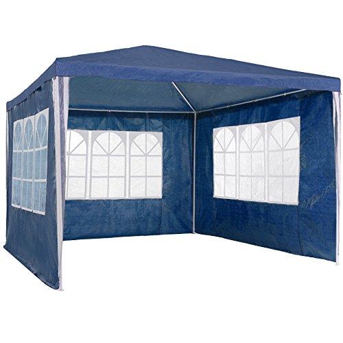 TecTake Gazebo Jardín Carpa Fiesta Camping Tienda Cerveza con Paredes laterales 3x3m - disponible en diferentes colores - (Azul | no. 400933)