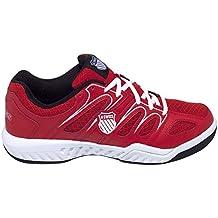 K-Swiss Calabasas Mesh Omni - Zapatillas para hombre, color rojo / blanco / negro, talla 44.5