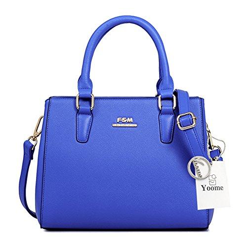Yoome Stile Alle Stile Croce Pattern Top Handle Satchel Portafoglio Borse Donna Borse Chic Chic Crossbody - Blu Blu