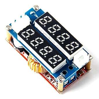 5A Adjustable Power CC/CV Step-down Module LED Driver Voltmeter Ammeter