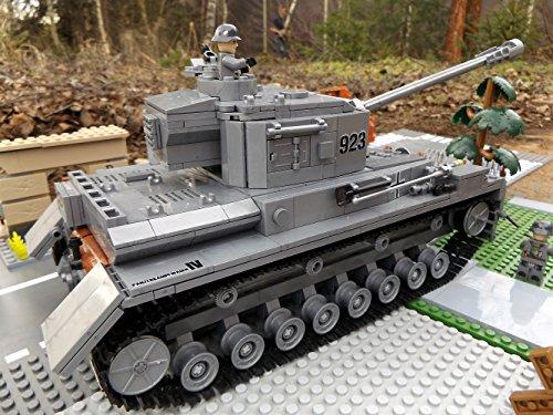 Modbrix 8210 – ✠ Bausteine Panzer IV Ausf. F, 1000 Teile, inkl. custom Wehrmacht Soldaten aus original Lego© Teilen ✠ - 5