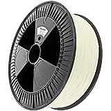Minadax 2,3kg Premium Qualitaet 1,75mm PLA-Filament weiss fuer 3D-Drucker hergestellt in Europa