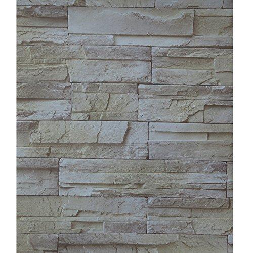 Brown Faux Textur Wallpaper (Einfach abziehen und aufkleben Faux Stein Stein Tapete Kontakt Papier Wasserdicht Abnehmbare Wand Decor Aufkleber Brown Grey Mix)
