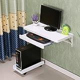 Duo  Computer Tisch Wand Laptop Tisch Schreibtisch Wandbehang Computer Schreibtisch Weiß mit Tastatur Tray Frame dauerhaft