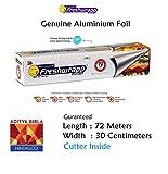 #10: Hindalco Freshwrapp Aluminium Foil Genuine & Eco-Friendly- Length 72 Meters - Width- 30cm Guaranteed - Weight 821gm MRP 357