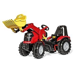 Rolly Toys 651016 Premium, Traktor X-Trac mit Frontlader und Handbremse, rot/schwarz