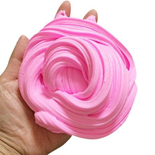 Preisvergleich Produktbild OverDose Fluffy Slime, 2017 Neu Kreative Plastilin Spielzeug Flauschige Floam Slime Schleim Duft Stress Relief Keine Borax Kinder Spielzeug in 10 Farbe (Rosa)